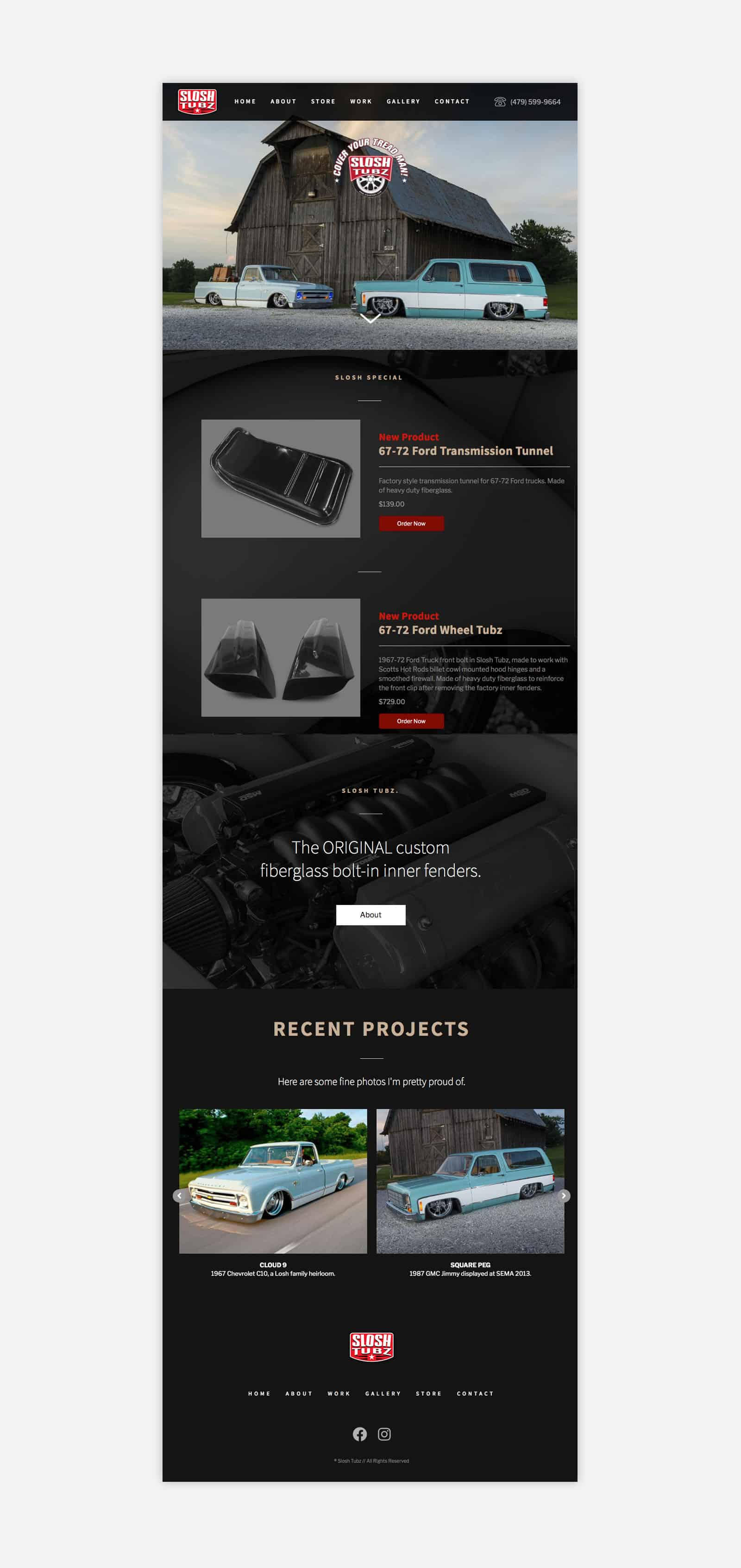 automobile website design homepage
